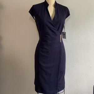 Calvin Klein classy navy blue dress